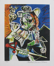 Pablo Picasso CAVALIER  WITH PIPE Estate Signed & Numbered Small Giclee