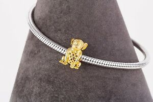 Cute Monkey Charm-18k Gold Plated Charm-925 Sterling Silver-Limited Edition