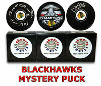 Chicago BLACKHAWKS Signed Mystery Hockey Puck - Champs Edition Series 7 (# / 50)