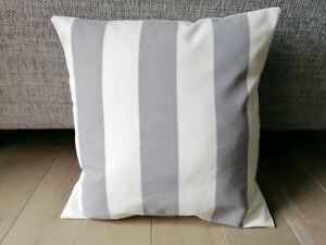 "Ikea Sofia Grey and White Stripes Cushion Covers - All Sizes 16"" inch"
