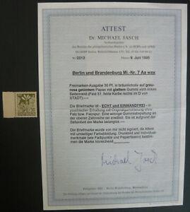 SBZ Alliierte Besetzung Berlin und Brandenburg MiNr 7 Aa wax, postfrisch, Attest