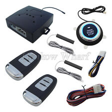PKE Car Alarm System Passive Keyless Entry Push Button Remote Start Stock I