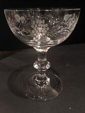 Hawkes Fruit Border Martini Sherbet Saucer Champagne Glass 6 oz