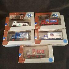 Vintage AHL Hersheys Chocolate Diecast Trucks Tanker Lot Of Five New 1991