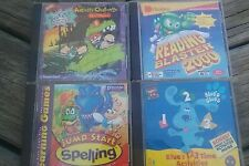 Lot of 4 Educational Cd's; Rugrats,Spelling, Reading Blaster, Blue's Clues