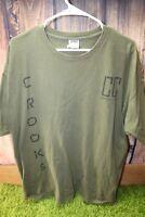 Crooks & Castles XL Green Graphic Tee Men's Shirt