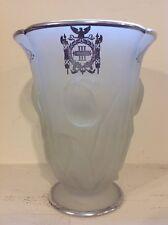 Vintage Tulip Vase Third Panel Sheriffs Jury New York, Sterling Overlay - Fenton