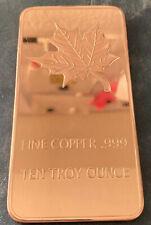 999 Kupferbarren 10 oz Maple Leaf Kupfer Copper Barren