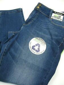 NWT Womens D. Jeans sz 16W Super High Waist Skinny Plus  Medium  Kendra  Wash