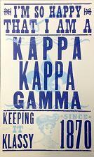 Kappa Kappa Gamma (KKG) Sorority Hatch Show Print Poster