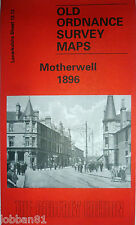 OLD ORDNANCE SURVEY DETAILED  MAP MOTHERWELL LANARKSHIRE  SCOTLAND1896 S12.13