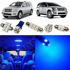19x Blue LED lights interior package kit for 2004-2010 Infiniti Qx56 IQ2B