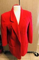 Womens vintage Giorgio Sant'Angelo 14 Red 100% wool coat
