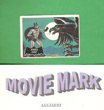 Topps 1966 BATMAN (Black Cowl) Original Card #52 Winged Giant FREE Ship & BONUS!