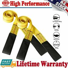 "2Pcs 6' x 2"" Nylon Web Sling Lift Tow Strap Heavy Duty 9000Lbs Max Lifting Hoist"
