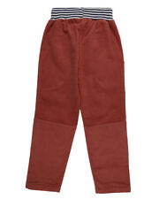 Lilly and Sid Boys Trousers Brick Colour Turn Up Cord with Jersey Lining