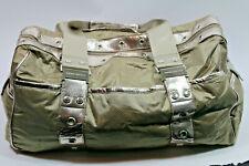 BEBE SPORT Duffel Bag Overnight Travel Big Tote Beige Nude Gold Silver Metallic