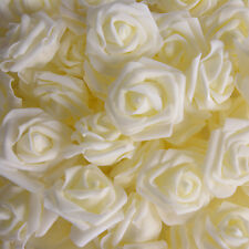 7,14,50,100 pcs Foam Rose Head Artificial Flower for Wedding Bouquet Decor B079