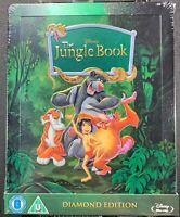 Disney The Jungle Book Blu-Ray Zavvi UK Limited Edition Steelbook Rare OOP NEW