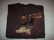 Guy Harvey Men's Medium Brown Fishing Graphic Tee T-Shirt EUC