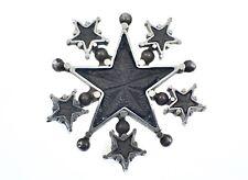 Epingle à chapeau ancienne étoile de digne St Vincent en argent massif XIXeme