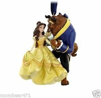 Disney Parks Beauty and the Beast Glitter Dress Ornament Belle and Beast New