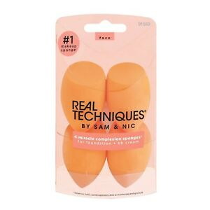 Real Techniques 4 Miracle Complexion Sponges Make Up Brush Set
