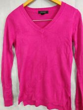 Womens Jumper Pull Over Cardigan Pink Full Sleeve V Neck Atmosphere Size 4