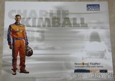 "2015 Charlie Kimball Novo Nordisk ""1st issued"" Chevy Dallara Indy Car postcard"