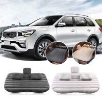 Inflatable Travel Car Mattress Air Bed Back Seat Sleep Rest Mat with Pillow