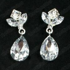 Unbranded Crystal Glass Clip - On Costume Earrings