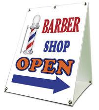 "Barber Shop Open Sidewalk A Frame 18""x24"" Outdoor Retail Sign"