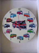 Round 13 Designs classico VW Camper Van Wall clock.new & BOXED