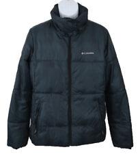 Columbia Men's Long Sleeve Full Zip Nylon Polyester Puffy Jacket Blue Large