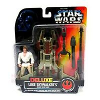 Star Wars Deluxe Luke Skywalker Desert Sport Skiff 1996 Action Figure Kenner NIB