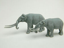 Stegodon and Mastodon in same 1/64 scale 3d plastic Model Rare!!