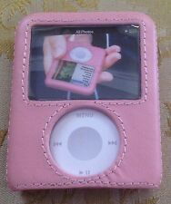 Apple iPod Nano 3G 3rd Gen GRIFFIN elan Form Pink Leather Case Hard Rigid Cover