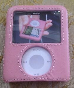 Apple iPod Nano 3G 3rd Gen GRIFFIN elan Form Pink Leather Case Hard Rigid Cover
