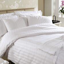 Ramco 500TC Egyptian Cotton Hotel Quality KING Bed sheet Set in White Stripe