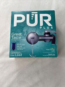 Pur Plus Mineral Core Faucet Filtration System w/ Filter Light, Black Chrome