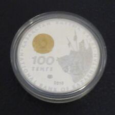 KAZAKHSTAN 100 Tenge 2010 - TOMIRIS - Silver 925 PROOF Gilded (31 g)