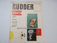 BOATING S FIRST MAGAZINE THE RUDDER DECEMBER 1960 VINTAGE BOAT MOTOR ADDS
