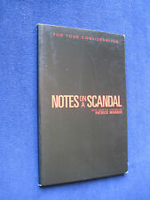 CATE BLANCHETT Film NOTES ON A SCANDAL Screenplay 1st Appearance in Book Form