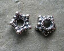Bali Sterling Silver Ornate Bead Cap 4mm x 6mm