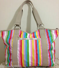 NWT LeSportsac Carryall tote travel bag Purse Lucky Stripe Retail $88