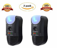 [2 PACK] 5-in-1 Indoor Pest Repeller Ultrasonic Pest Contr... Free Shipping NEW