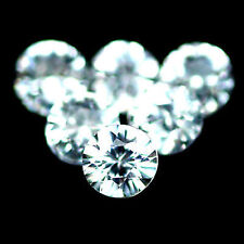 5.45 Carats 25 Pcs Natural WHITE ZIRCON Cambodia for Jewelry Setting
