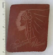 Original Vintage Carved CATLINITE PIPESTONE MINNESOTA AMERICAN INDIAN PORTRAIT