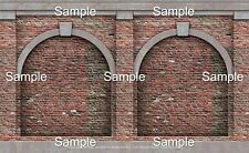 24 SHEETS EMBOSSED BUMPY BRICK wall paper 10cmx7cm EACH 1/48 o gauge, arch 2