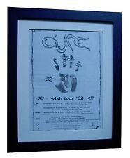 THE CURE+SMITH+WISH TOUR POSTER+AD+RARE+ORIGINAL+1992+FRAMED+EXPRESS GLOBAL SHIP